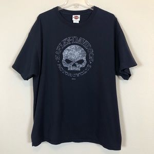 Harley-Davidson Motorcycles Black Skull Tee, XL